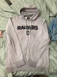 Título do anúncio: Blusa Moletom Futebol Americano Raiders Adulto