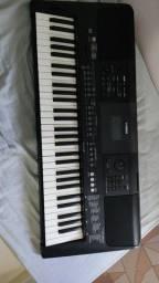 Teclado musical Yamaha psre463+tripé+fonte+pedal sustain