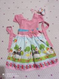 Kit vestido bita + tiara personalizada