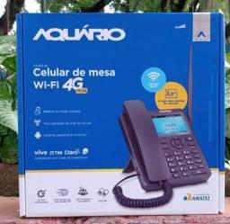 Título do anúncio: Telefone Celular De Mesa Wi-Fi 4G Aquário - Ca-42s