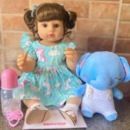Título do anúncio: Linda Boneca Bebê Reborn toda em Silicone Realista 55cm Nova Original (aceito cartão