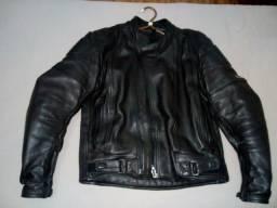 Casaco de couro pra motociclista