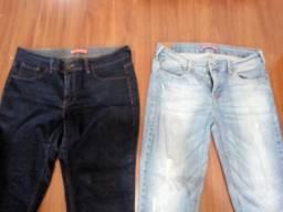 2 calças jeans feminina