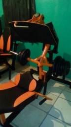 Leg press articulado