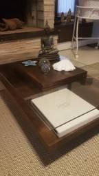 BARBADA - Mesa de centro linda Vidro e madeira