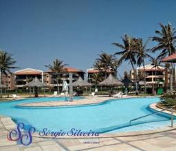 Apartamento no Aquaville Resort com 2 suítes e dependencia completa. Porto das dunas