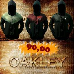 Jaqueta Oakley Corta Vento Nova 2 Bolsos Ziper Forrada Primeira Linha