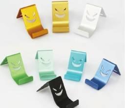 Mini Suporte de Mesa para Celular Alumínio - Sorridente