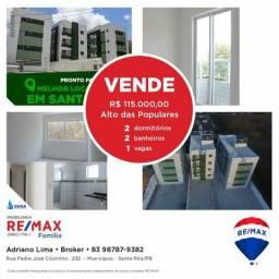 Apartartamentos no alto das populares! em Santa Rita Rita