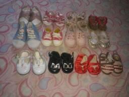 Lote de sapatinhos para menina