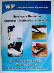 WF Higienização Limpeza de estofados