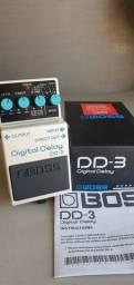 Pedal Boss guitarra Delay DD3 - NOVO NUNCA USADO.