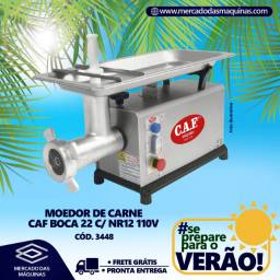 Moedor de carne elétrico CAF boca 22 inox Novo Frete Grátis