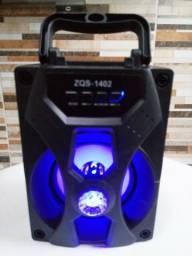 Caixa de Som Bluetooth com Led