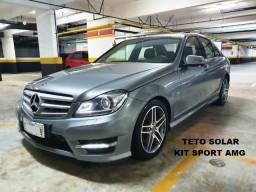Mercedes Bens C250 Sport Amg 1.8 Cgi Turbo 204CV Com Teto Solar - Top de Linha - 2012 - 2012