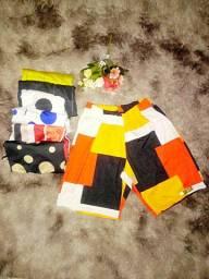 Shorts Femeninos varias cores duplex digital