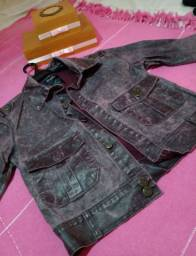 jaqueta jeans roxa
