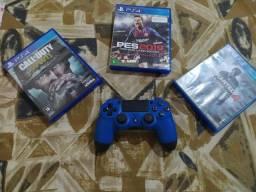 Controle ps4 original + jogos