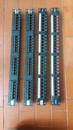 4 Patch Panel Furukawa - 24 portas cada