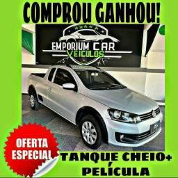 TANQUE CHEIO SO NA EMPORIUM CAR!!! VW SAVEIRO 1.6 CE TRENDLINE ANO 2016 COM MIL DE ENTR