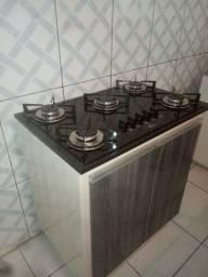 Balcão para cooktop 5 bocas
