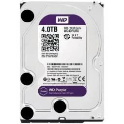WD Purple 4 TB Para Segurança / Vigilância / DVR - WD40PURX - Novo/Lacrado