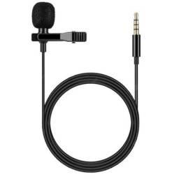 Microfone Lapela Celular Smartphone Profissional + Presilha