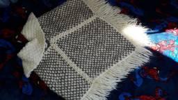 Poncho de lã infantil 2 a 5 anos