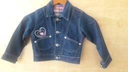 Jaquetinha jeans menina semi nova  04/06 anos