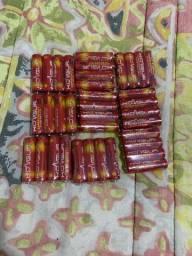 36 pilhas palitos lacradas