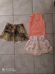 Saia avulso ou conjunto saia e blusa