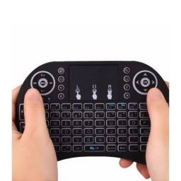 Teclado usb led p/ tv box pc ps3