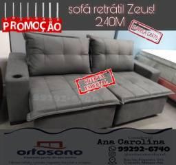 Sofá Retrátil e Reclinável Zeus Luxo 2.40 largura
