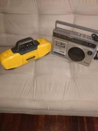 2 rádio gravador antigo  Sharp gf 2500 /sports