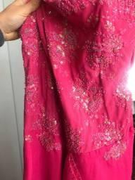 R$ 110 reais Lindo Vestido de Gala Tam. 36/38 Bordado Alta Costura