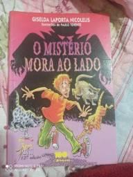 """Livro """" O mistério mora ao lado"""""""