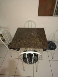 Venda mesa granito com 4 cadeiras