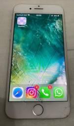 Vendo iPhone 7 32gb, tá com a tela trincada