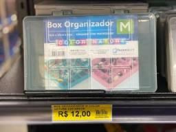 Box Organizador 23x14x4 cm por 12 reais a unidade