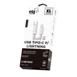 Cabo USB Tipo-C Para Lightning 2 Metros - ELG