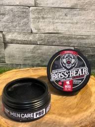 Pomada de cabelo Boss Bear Black Alta Fixação 120g