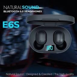 Fone de Ouvido E6S sem Fio TWS Bluetooth 5 0 com Tela LED