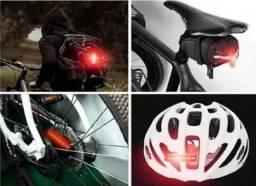 Lanterna Traseira Usb Bike Moto 4 Sinalização Led Light