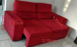 Sofa 3 lugares retratil
