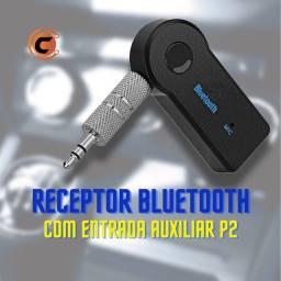 Título do anúncio: Receptor Bluetooth com entrada auxiliar P2