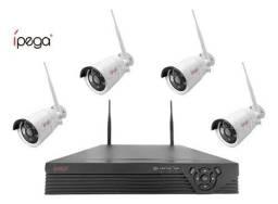 Título do anúncio: Kit Câmera De Segurança Sem Fio Nvr Ipega Dvr + 4 Camera Hd