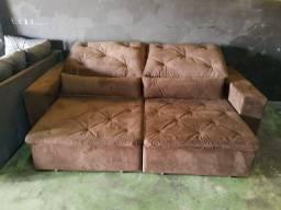 Sofá reclinável e retrátil de 2m30