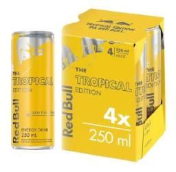 Energético Red Bull TROPICAL EDITION - Pack Com 4 Unidades de 250ml