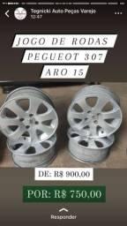 Título do anúncio: Jogo de rodas aro 15 peugeot  307