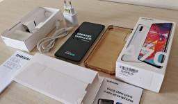 Samsung A70 Branco Original Completo + carregador e capa protetora